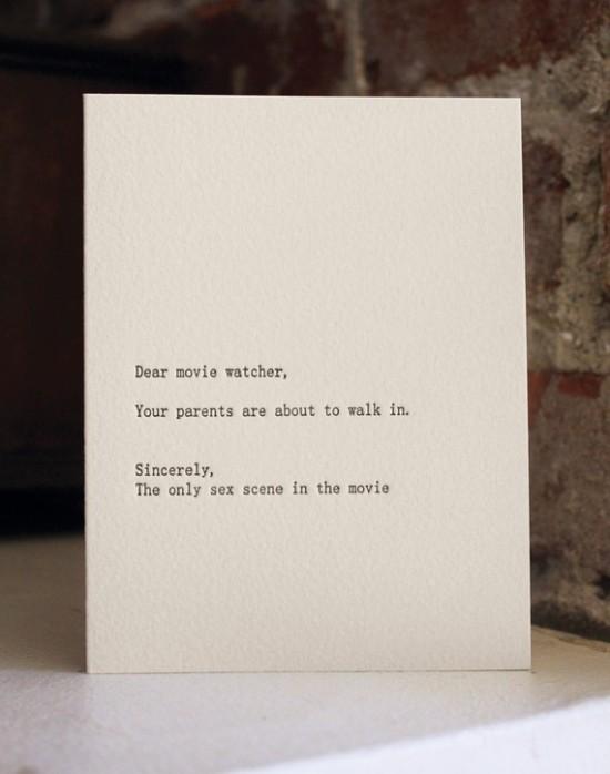 Funny Copy (Dear….. letters).